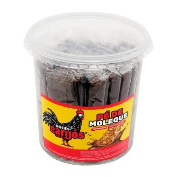 Pé de Moleque Carijós com cobertura de chocolate pote c/50 und - 850g