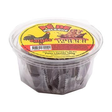 Pé de Moleque Carijós com cobertura de chocolate c/7 und - 120g